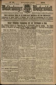 Waldenburger Wochenblatt, Jg. 62, 1916, nr 16