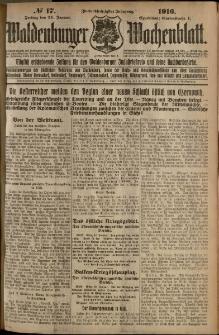 Waldenburger Wochenblatt, Jg. 62, 1916, nr 17