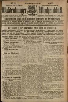 Waldenburger Wochenblatt, Jg. 62, 1916, nr 18