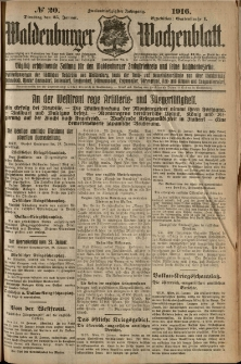 Waldenburger Wochenblatt, Jg. 62, 1916, nr 20