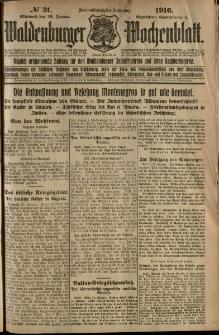 Waldenburger Wochenblatt, Jg. 62, 1916, nr 21
