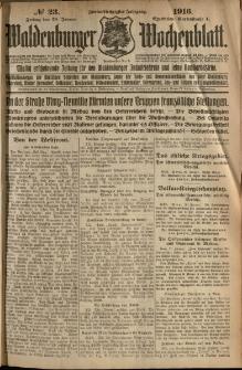 Waldenburger Wochenblatt, Jg. 62, 1916, nr 23
