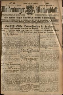 Waldenburger Wochenblatt, Jg. 62, 1916, nr 24