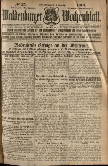 Waldenburger Wochenblatt, Jg. 62, 1916, nr 25