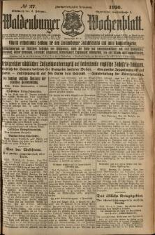 Waldenburger Wochenblatt, Jg. 62, 1916, nr 27