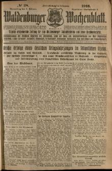 Waldenburger Wochenblatt, Jg. 62, 1916, nr 28