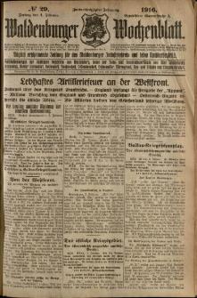 Waldenburger Wochenblatt, Jg. 62, 1916, nr 29