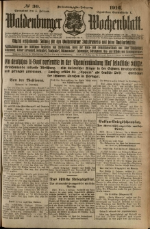 Waldenburger Wochenblatt, Jg. 62, 1916, nr 30