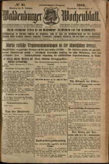 Waldenburger Wochenblatt, Jg. 62, 1916, nr 31