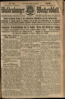 Waldenburger Wochenblatt, Jg. 62, 1916, nr 32