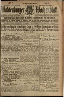 Waldenburger Wochenblatt, Jg. 62, 1916, nr 34