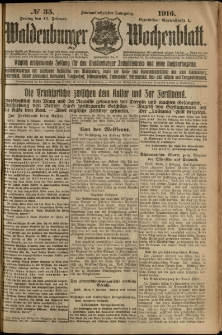 Waldenburger Wochenblatt, Jg. 62, 1916, nr 35