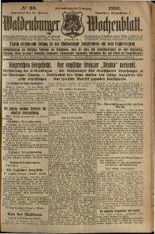 Waldenburger Wochenblatt, Jg. 62, 1916, nr 36