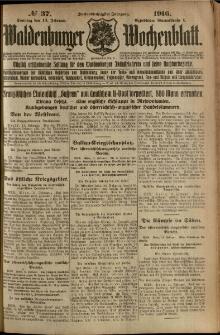 Waldenburger Wochenblatt, Jg. 62, 1916, nr 37