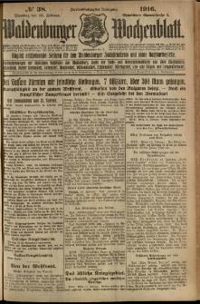 Waldenburger Wochenblatt, Jg. 62, 1916, nr 38
