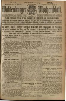 Waldenburger Wochenblatt, Jg. 62, 1916, nr 40