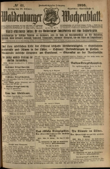 Waldenburger Wochenblatt, Jg. 62, 1916, nr 41