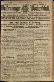 Waldenburger Wochenblatt, Jg. 62, 1916, nr 42