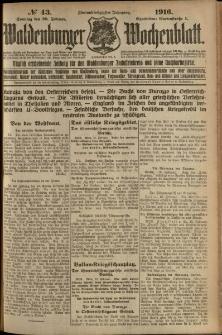 Waldenburger Wochenblatt, Jg. 62, 1916, nr 43