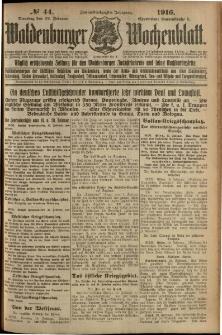 Waldenburger Wochenblatt, Jg. 62, 1916, nr 44