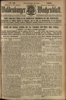 Waldenburger Wochenblatt, Jg. 62, 1916, nr 45
