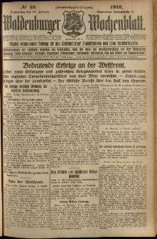 Waldenburger Wochenblatt, Jg. 62, 1916, nr 46