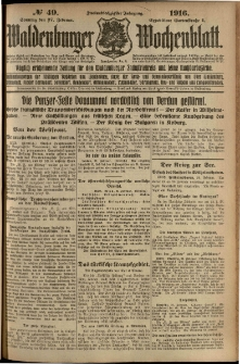 Waldenburger Wochenblatt, Jg. 62, 1916, nr 49