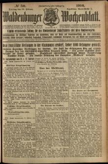 Waldenburger Wochenblatt, Jg. 62, 1916, nr 50