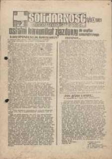 Solidarność Jeleniogórska : komunikat zjazdowy : 8/9.10.1981 r.