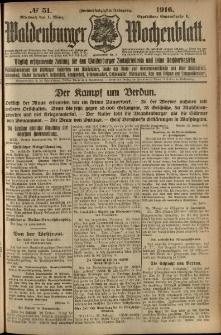 Waldenburger Wochenblatt, Jg. 62, 1916, nr 51