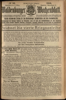 Waldenburger Wochenblatt, Jg. 62, 1916, nr 52