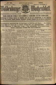 Waldenburger Wochenblatt, Jg. 62, 1916, nr 55