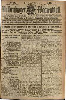 Waldenburger Wochenblatt, Jg. 62, 1916, nr 56