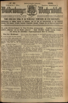 Waldenburger Wochenblatt, Jg. 62, 1916, nr 57