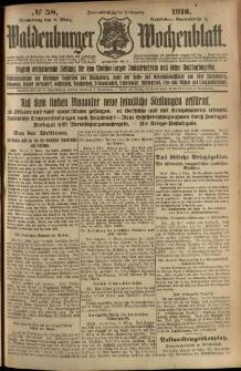 Waldenburger Wochenblatt, Jg. 62, 1916, nr 58