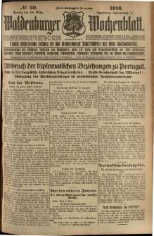 Waldenburger Wochenblatt, Jg. 62, 1916, nr 59