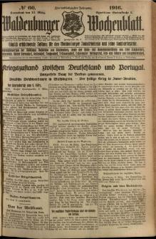 Waldenburger Wochenblatt, Jg. 62, 1916, nr 60