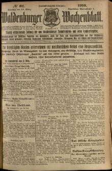 Waldenburger Wochenblatt, Jg. 62, 1916, nr 62