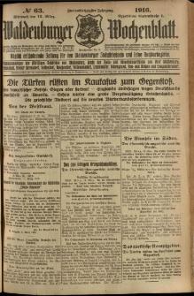 Waldenburger Wochenblatt, Jg. 62, 1916, nr 63