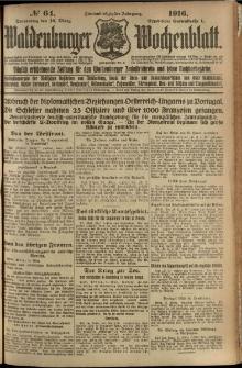 Waldenburger Wochenblatt, Jg. 62, 1916, nr 64