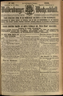 Waldenburger Wochenblatt, Jg. 62, 1916, nr 66