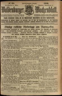Waldenburger Wochenblatt, Jg. 62, 1916, nr 68