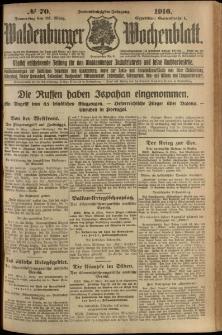 Waldenburger Wochenblatt, Jg. 62, 1916, nr 70