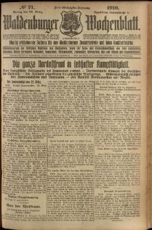 Waldenburger Wochenblatt, Jg. 62, 1916, nr 71