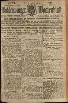 Waldenburger Wochenblatt, Jg. 62, 1916, nr 72