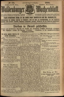 Waldenburger Wochenblatt, Jg. 62, 1916, nr 73