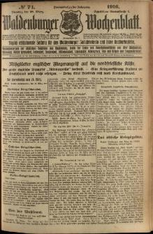 Waldenburger Wochenblatt, Jg. 62, 1916, nr 74