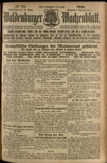 Waldenburger Wochenblatt, Jg. 62, 1916, nr 77