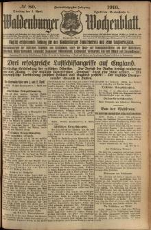 Waldenburger Wochenblatt, Jg. 62, 1916, nr 80