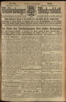 Waldenburger Wochenblatt, Jg. 62, 1916, nr 83